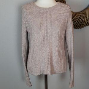 Madewell pink wool sweater xs